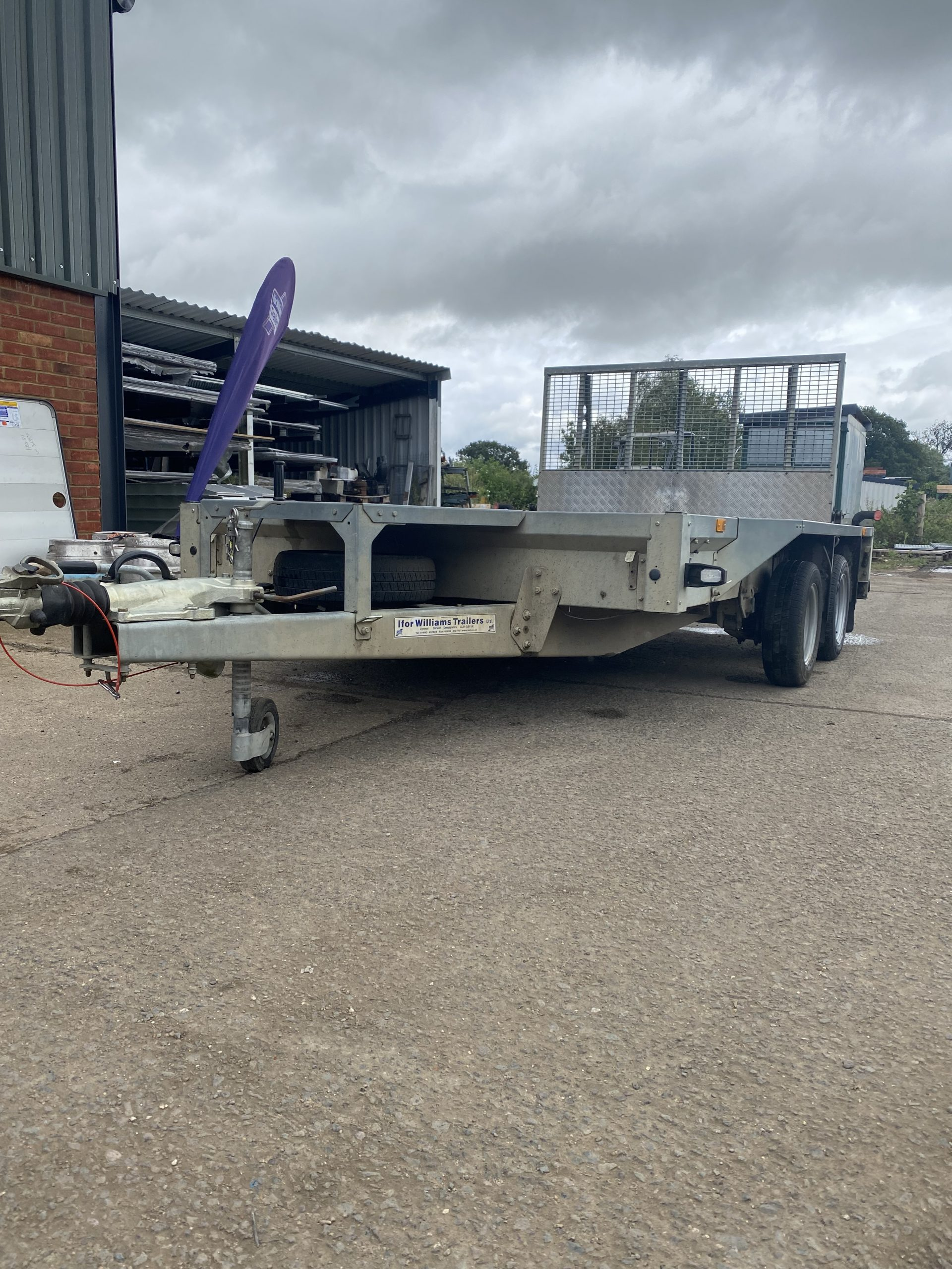 SOLD: 2016 Ifor Williams GX106 Plant Trailer